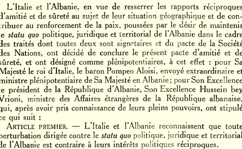 Pakti i Miqsisë Italo-Shqiptare (1926)