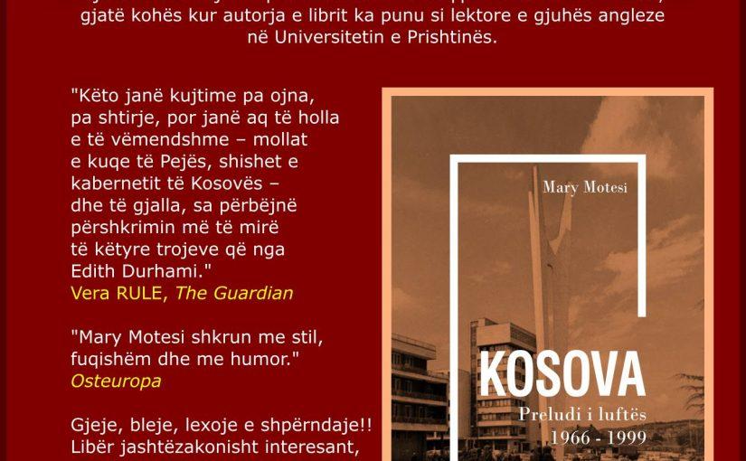 Libri i Mary Motesit për Kosovën: Shqip me paskajore