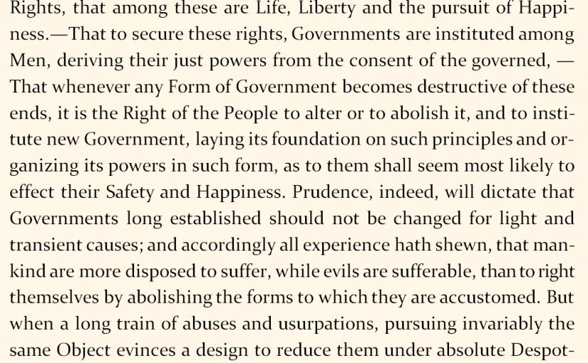 Deklarata e pavarësisë e Shteteve të Bashkuara